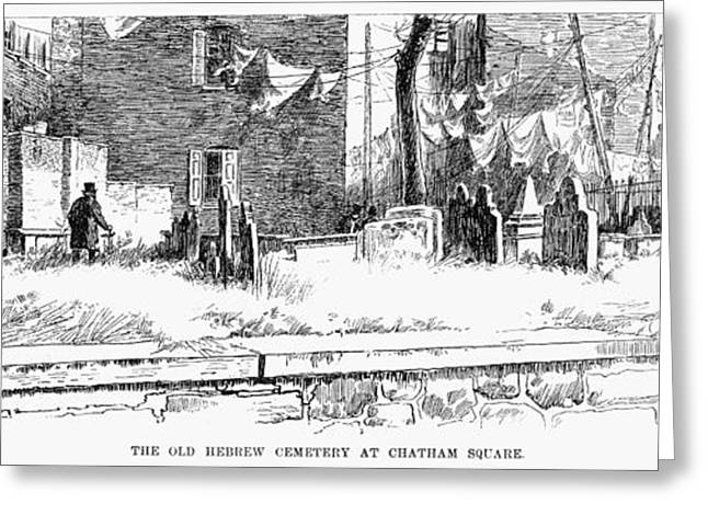 Jewish Cemetery, 1891 Greeting Card by Granger