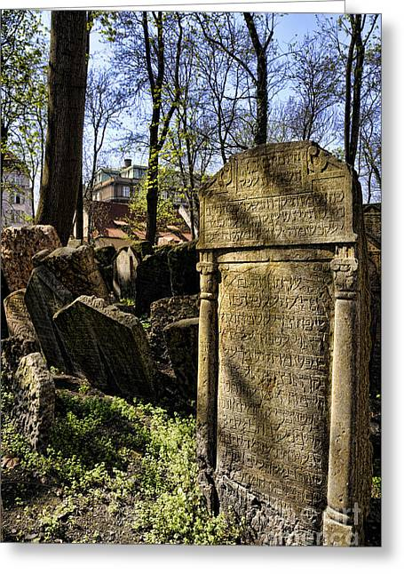 Not In Use Greeting Cards - Jewish Cemetery Greeting Card by Brenda Kean