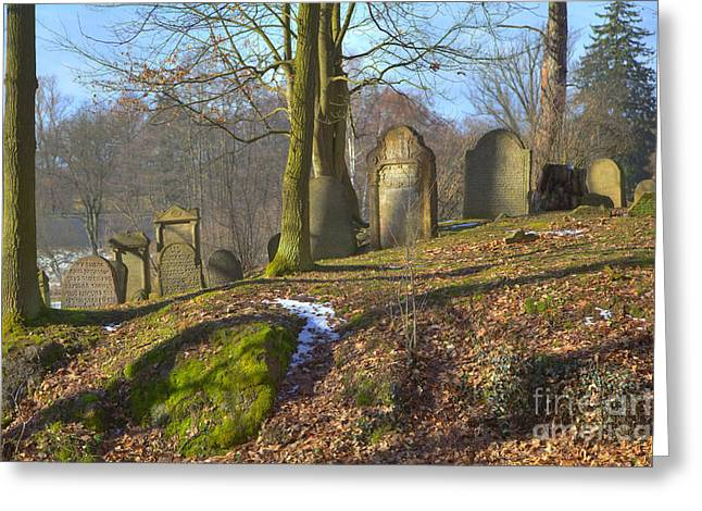 Czechia Greeting Cards - Jewish cemetery Greeting Card by Regina Koch