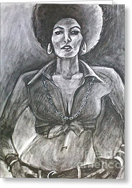 Empower Drawings Greeting Cards - Jezebel Greeting Card by Gabrielle Wilson-Sealy