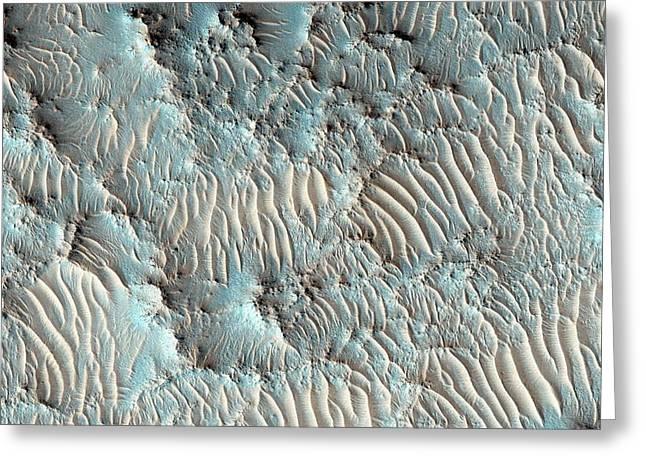 Jezero Crater Greeting Card by Nasa/jpl-caltech/university Of Arizona