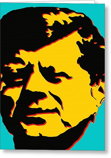 Politics Prints Digital Art Greeting Cards - JFK 1 - Kennedy Pop Art Greeting Card by Peter Fine Art Gallery  - Paintings Photos Digital Art