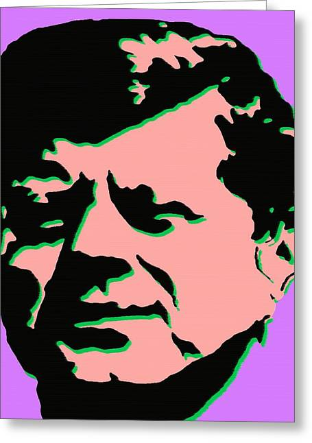 Politics Prints Digital Art Greeting Cards - JFK 2 - Kennedy Pop Art Greeting Card by Peter Fine Art Gallery  - Paintings Photos Digital Art