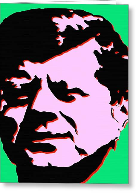 Politics Prints Digital Art Greeting Cards - JFK 4 - Kennedy Pop Art Greeting Card by Peter Fine Art Gallery  - Paintings Photos Digital Art