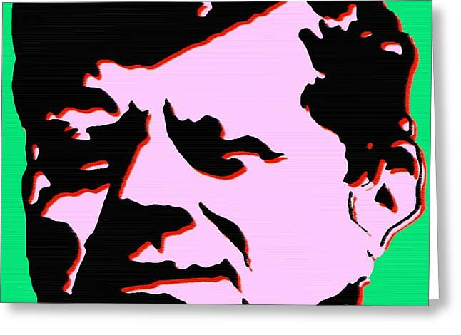 John F Kennedy 4 - Pop Art Poster Greeting Card by Art America Online Gallery