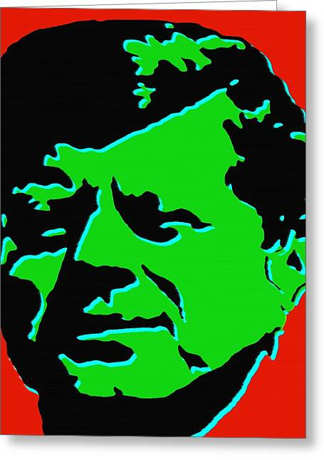 Politics Prints Digital Art Greeting Cards - JFK 5 - Kennedy Pop Art Greeting Card by Peter Fine Art Gallery  - Paintings Photos Digital Art