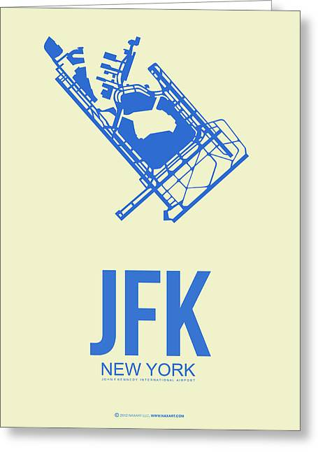 Manhattan Mixed Media Greeting Cards - JFK Airport Poster 3 Greeting Card by Naxart Studio