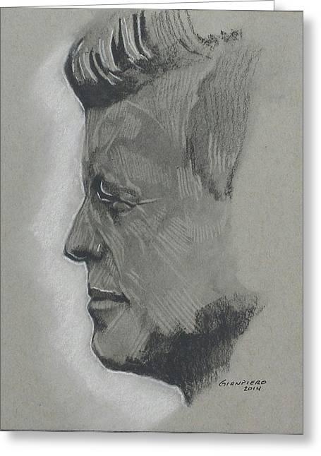 JFK Greeting Card by Gianpiero M