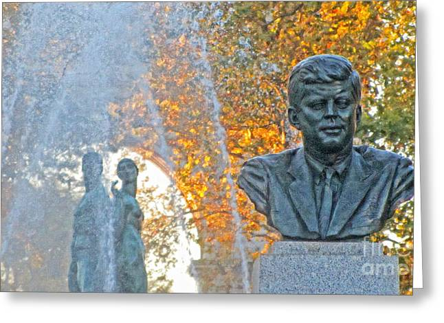 John F. Kennedy Plaza Greeting Cards - Jfk Greeting Card by Nishanth Gopinathan