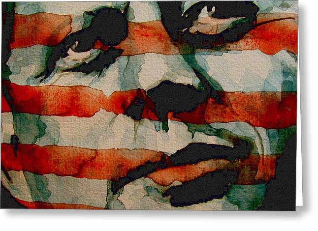 Kennedy Greeting Cards - Jfk Greeting Card by Paul Lovering