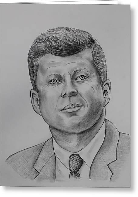 Camelot Drawings Greeting Cards - Jfk Greeting Card by Robert Pennix