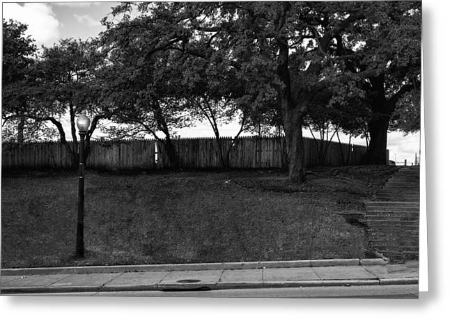 Jacksonville Greeting Cards - JFK The Grassy Knoll 1963 Greeting Card by William Jones