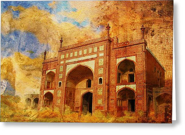 Jhangir Tomb Greeting Card by Catf