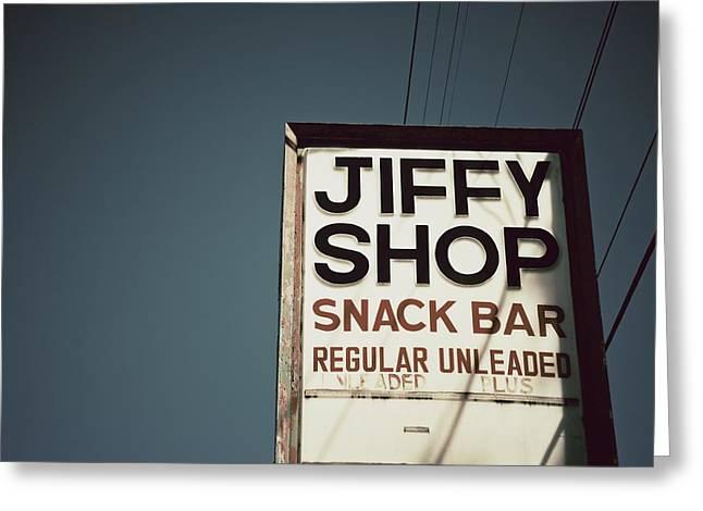 Snack Bar Greeting Cards - Jiffy Shop Greeting Card by Brandon Addis