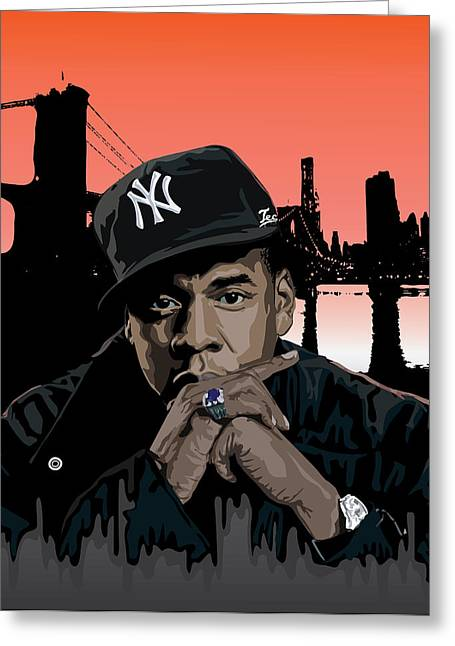 Rnb Greeting Cards - Jigga Greeting Card by Tecnificent