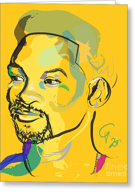 Celeb Greeting Cards - Jiggy Will Smith Greeting Card by Go Van Kampen