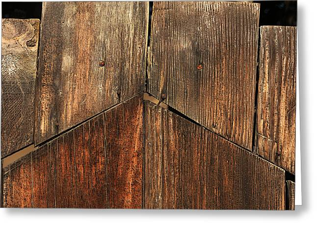 Crooked Fence Greeting Cards - Jigsaw Fence Greeting Card by Art Block Collections