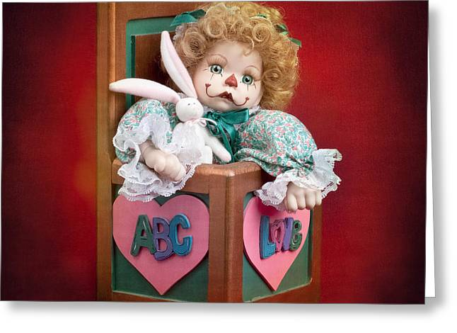 Jack-in-the-box Greeting Cards - Jill in the Box Greeting Card by Cindy Singleton
