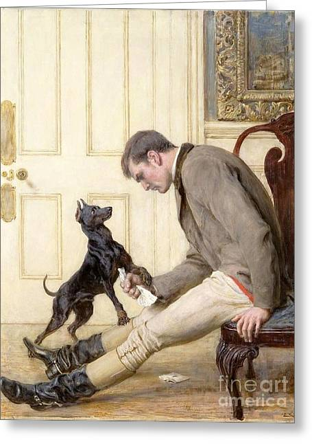 Briton Greeting Cards - Jilted Greeting Card by Briton Riviere