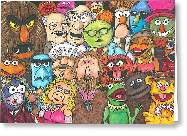 Jim And Friends Greeting Card by Andy Driscoll