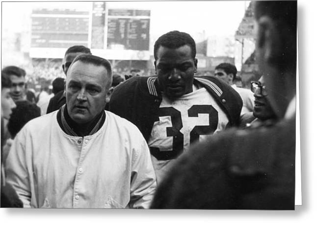 Jim Brown The Great Leaving The Field Greeting Card by Retro Images Archive
