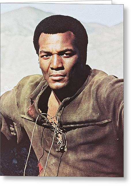 100 Greeting Cards - Jim Brown in 100 Rifles  Greeting Card by Silver Screen
