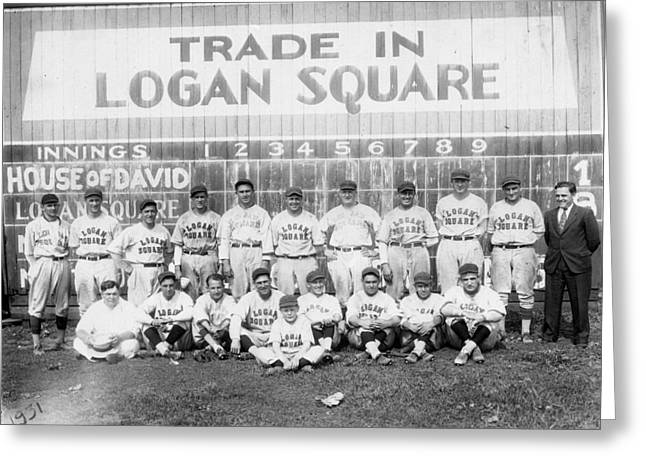 Logan Squares Semi-pro  Greeting Card by Retro Images Archive
