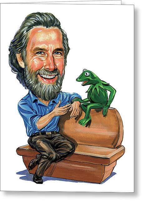 Awesome Greeting Cards - Jim Henson Greeting Card by Art