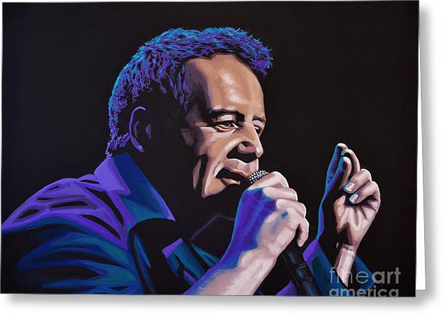 Jim Kerr Of The Simple Minds Painting Greeting Card by Paul Meijering