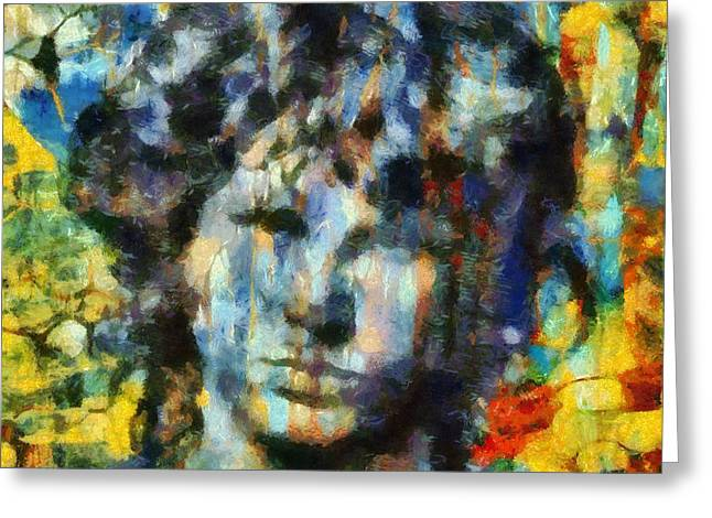 Jim Morrison Greeting Card by Dan Sproul