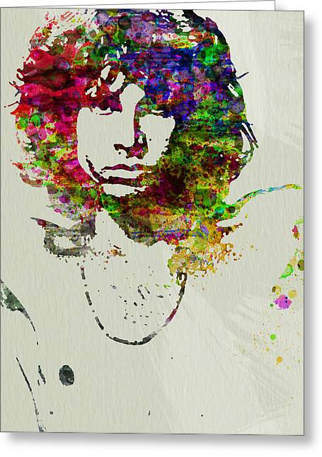 Star Greeting Cards - Jim Morrison Greeting Card by Naxart Studio