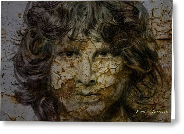 Artistic Creation Greeting Cards - Jim Morrison Greeting Card by Louis Ferreira