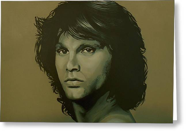 Oliver Greeting Cards - Jim Morrison Greeting Card by Paul  Meijering