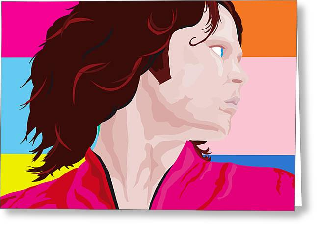 Hockey Heroes Greeting Cards - Jim Morrison Side Greeting Card by Neil Finnemore