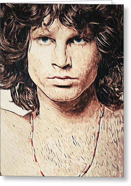 Overdose Greeting Cards - Jim Morrison Greeting Card by Taylan Soyturk