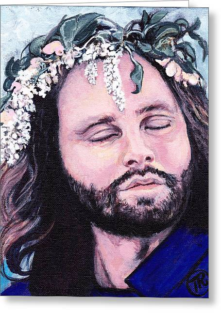 Tom Roderick Artist Greeting Cards - Jim Morrison Greeting Card by Tom Roderick