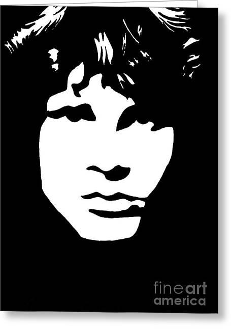 Rocks Drawings Greeting Cards - Jim Morrison  Greeting Card by Yael Rosen