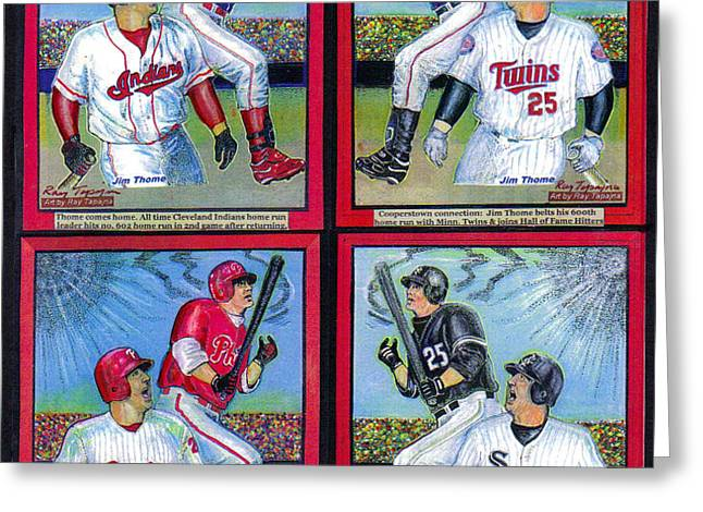 Jim Thome hits 600th home run Greeting Card by Ray Tapajna