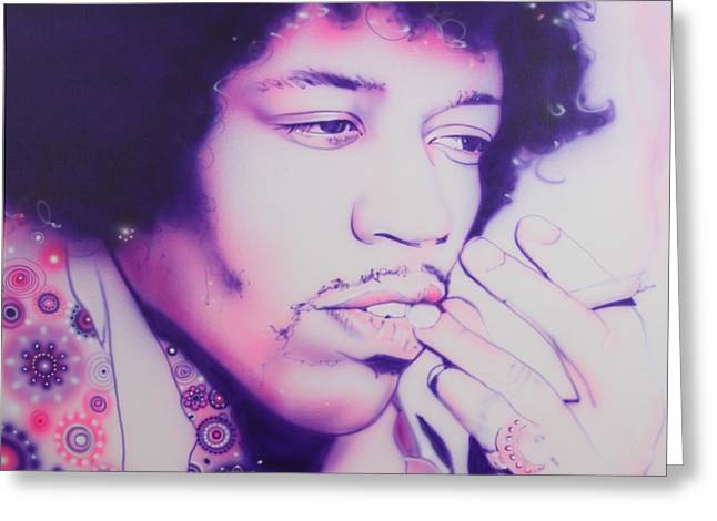 Love Framed Prints Greeting Cards - Jimi Greeting Card by Christian Chapman