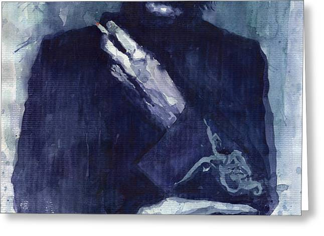 Jimi Hendrix 01 Greeting Card by Yuriy  Shevchuk