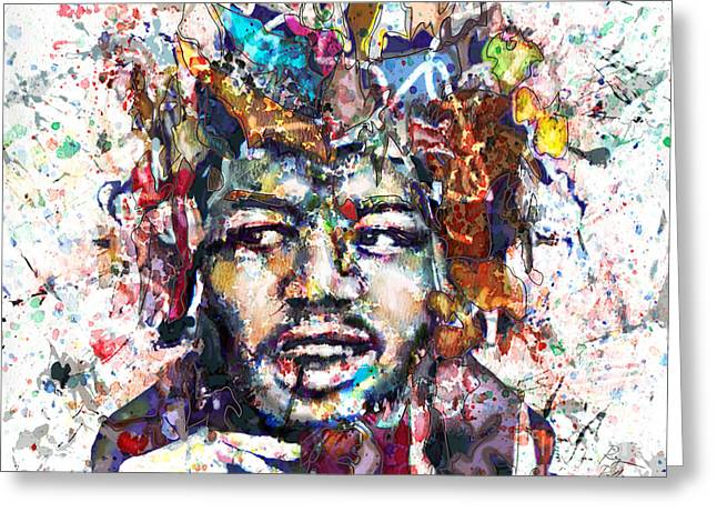 Home Decor Posters Mixed Media Greeting Cards - Jimi Hendrix Art Greeting Card by Ryan RockChromatic