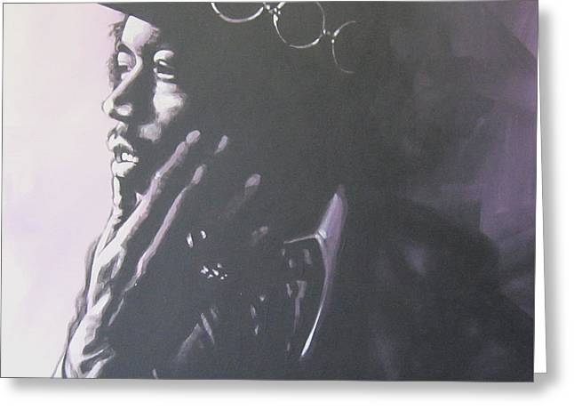 Johnny Allen Hendrix Greeting Cards - Jimi Hendrix Greeting Card by Bruce McLachlan