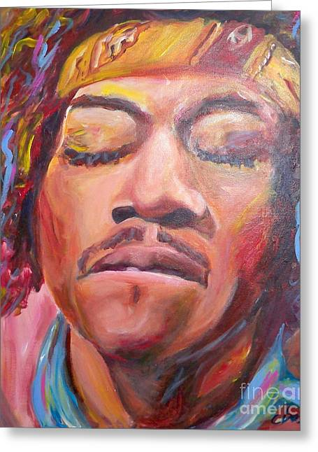 Johnny Allen Hendrix Greeting Cards - Jimi Hendrix Greeting Card by Carol Boss