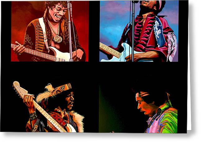 Entertainer Greeting Cards - Jimi Hendrix Collection Greeting Card by Paul  Meijering
