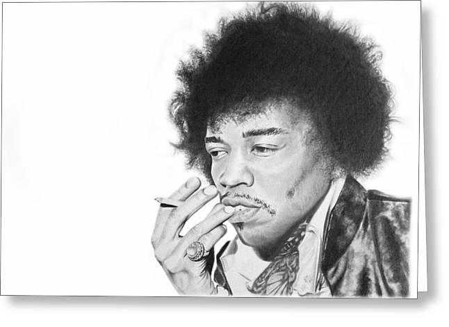 Best Sellers -  - Don Medina Greeting Cards - Jimi Hendrix Greeting Card by Don Medina