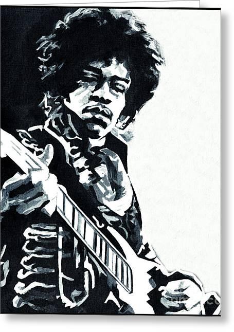 Jimi Hendrix - Inside Out Greeting Card by Tanya Filichkin