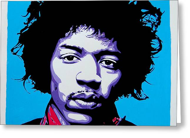 Johnny Allen Hendrix Greeting Cards - Jimi Hendrix Greeting Card by Nancy Mergybrower