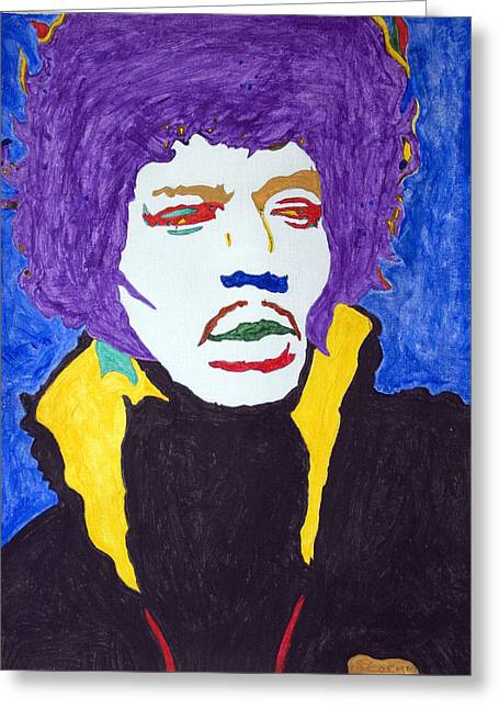 Science Greeting Cards - Jimi Hendrix Purple Haze  Greeting Card by Stormm Bradshaw