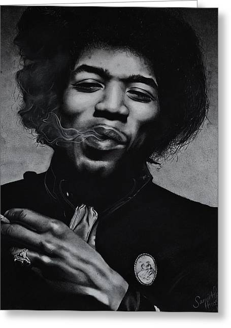 Samantha Greeting Cards - Jimi Hendrix Greeting Card by Samantha Howell