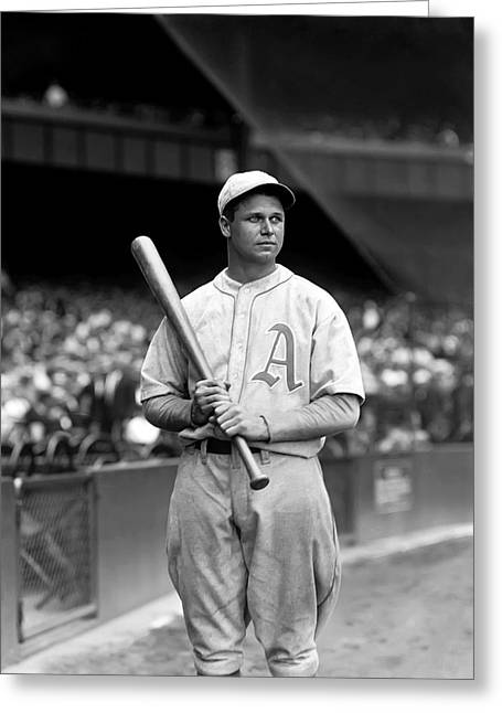 Boston Red Sox Greeting Cards - Jimmie Foxx Bat In Hand Greeting Card by Retro Images Archive